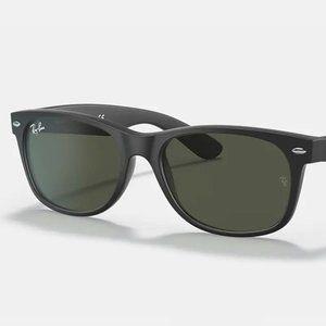 RAY-BAN RB2132 622 NEW WAYFARER Black Sunglasses